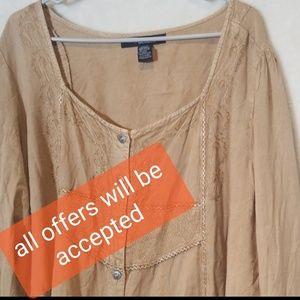 Denim 24/7  blouse size 26 w